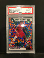 2019 Panini Mosaic Reactive Blue Zion Williamson RC Rookie PSA 10