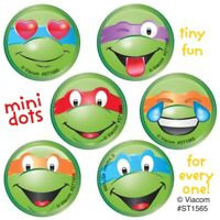 60 Teenage Mutant Ninja Turtles Faces Mini Dot Stickers Party Favors TMNT