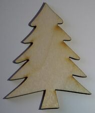 (3) 3 Inch x 2.4 Inch Christmas Tree Craft Project Wood Cutout  TREE3