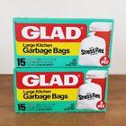 Vintage Glad Large Kitchen Garbage Trash Bags Movie TV Prop Retro Set of 2 Boxes