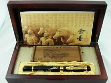 Jinhao Chinese Dragon Offspring Fountain Pen Medium Nib Black with Wooden Box