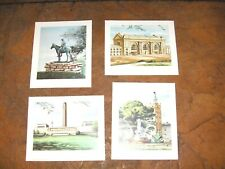 "#1135 - SET OF 4 ""SCENES OF KANSAS CITY"" ART PRINTS - UNION STATION, THE SCOUT"