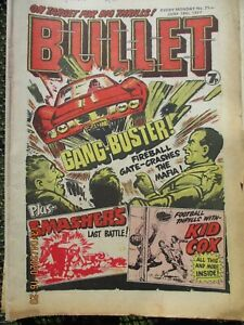 Bullet comic's - 1976 and 1977 action comics for boys.