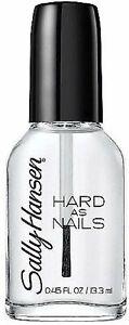 Sally Hansen Hard as Nails Nail Polish, Crystal Clear 0.45 oz