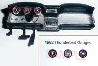 1962 FORD THUNDERBIRD GAUGE FACES for 1/25 scale AMT KITS