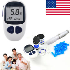 Blood Glucose Meter Monitor +50 FREE test strips,Lancets,Diabetes Complete Kit