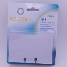 Rolodex 40 Pack Business Card Sleeves 2 58 X 4 White 67691 Nip