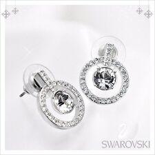 New Auth Swarovski Lavender Pierced Earrings 1039066