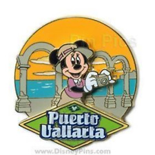 Disney Pin 61610 DCL 08 Westbound Panama Canal Minnie Puerto Vallarta Cruise LE