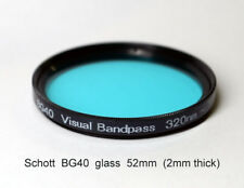 Schott BG40 52mm x 2mm UV/IR Cut Filter Visual Bandpass IR Suppression