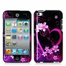 Design Crystal Hard Case for iPod Touch 4th Gen - Purple Love