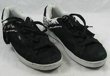 Vans Black Leather Skater Skateboarding Sneaker Shoes Mens 11 UK 8.5 EUR 42.5