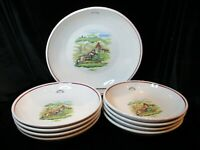 OVER AND BACK 9 PIECE PASTA 8 INDIVIDUAL PASTA BOWLS 1 PASTA SERVING BOWL