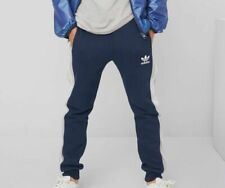 NEW $197 Adidas Young Boy's Blue Stripes Athletic Track Jogger Sweatpants Size L