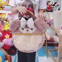 Disney Shellie May Duffy Bear Face Plush Tote Bag Handbag Shoulder Bag