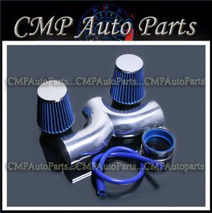 BLUE 2007-2010 DODGE NITRO 3.7L V6 TWIN DUAL AIR INTAKE KIT SYSTEMS