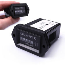 DC12-36V Truck Tractor Diesel Boat Engine Hour Meter Rectangular SYS 1Pcs