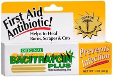 Bacitraycin Plus First Aid Antibiotic Ointment 1 oz (Pack of 2)