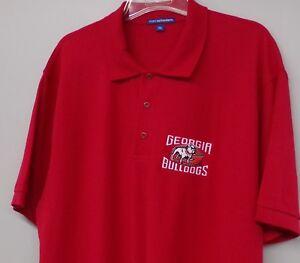 Georgia Bulldogs NCAA Mascot Mens Embroidered Polo XS-6XL, LT-4XLT New