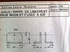 """2)Plan Avion Modèlisme """"Socle-Rampe de Lancement pour Avion et Fusée à Air"""