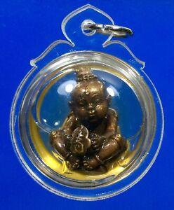 Kuman Thong in oil magic Spirit Wealth LP Tae Wat Sam Ngam Buddha Amulet
