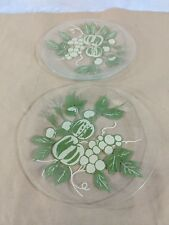 G27 Squash Painted Glass Green Salad Plate 8.5""