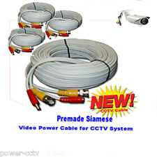 (4) 30ft Siamese Premade BNC Video CCTV Cable for CCTV Security Camera N System