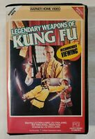 Legendary Weapons of Kung Fu VHS 1982 Martial Arts/Wuxia 1987 WB Vid (Ex-Rental)