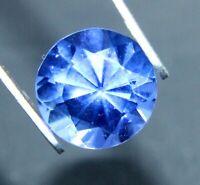 GGL Lab Certified Beautiful 4.35 Ct Natural Round Cut Ceylon Blue Sapphire