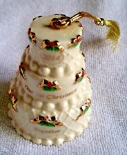 """Lenox """"2014 Our First Christmas Together Cake Ornament"""". Nib Msrp $60.00"""