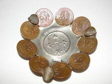 VTG Acapulco STERLING Silver & Coin Ashtray Mayan Aztec Calendar Centavos