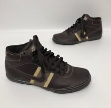00647ce66172f6 Nike Brown Leather Lace Up Mid Top Casual Shoes Size 8.5
