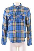 ABERCROMBIE & FITCH Womens Pullover Shirt Size 8 Small Multi Check  MT12