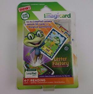 LeapFrog ImagiCard Letter Factory Advent rues  Age 4-7 Reading NIP