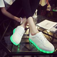 Unisex LED Light Lace Up Luminous Shoes Sportswear Sneaker Casual Shoes RR75