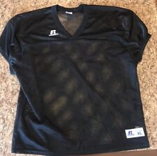 Russell Athletic 80s-90s Black Mesh Football Jersey Over shirt see thru Style Xl
