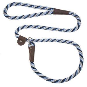 Mendota - Dog Puppy Leash - British Style Slip Lead - Arctic Blue - 4, 6 Foot