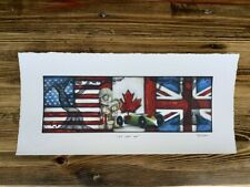 """""""We Are One"""" OPEN EDITION 15 x 7 ON PAPER (SIGNED)"""