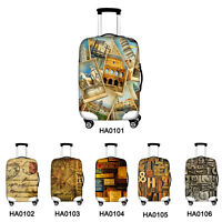Retro New Dust-proof Travel Spandex Luggage Cover Suitcase Protector 18-30 inch
