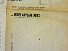 2 MODEL AIR PLANE PLANS. BREWSTER BUFFALO AND THE SLIVER. FULL SIZE