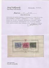 Polen Briefmarken 1950 Freiheitskämpfer Groszy Warschau Mi. Block A11 mit Attest