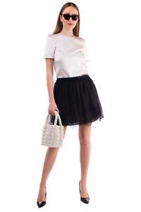 RRP €1860 VALENTINO SUB-ZERO COUTURE Silk Lace A-Line Skirt Size 44 / L Ruffle