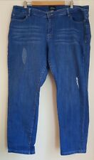 Ladies Size 22 Blue Ripped Denim Jeans