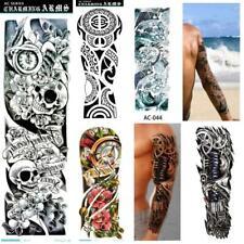 1/5 Pcs US man women Tattoo Sleeve Temporary Arm Body Art Sticker Waterproof