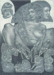 NEW Exlibris KAMA SUTRA by Konstantin Antioukhin Original Signed