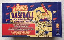 2001 Bowman HERITAGE baseball / FACTORY SEALED  HOBBY BOX ~ Pujols ICHIRO Bonds