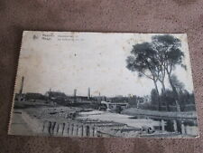 Early Belgique postcard - river scene  - Meenen / Menen - Flanders