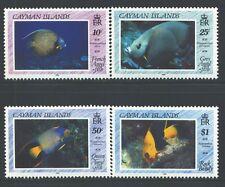 CAYMAN ISLANDS 618-21 SG707-10 MNH 1990 Angel Fish set of 4 Cat$20