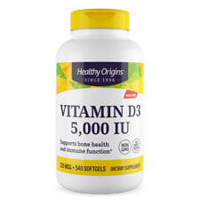 Healthy Origins Vitamin D3 5000 IU 540 Softgels