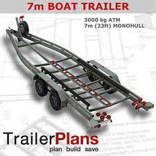 Trailer Plans - BOAT TRAILER PLANS - 7m(21ft) Monohull - PRINTED HARDCOPY